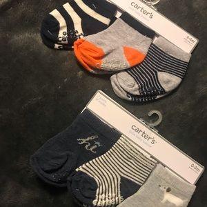 Boys 0-3 month carters socks NWT